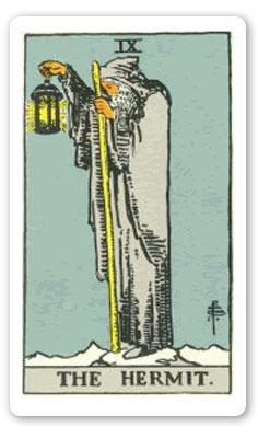 Rider-Waite deck: The Hermit